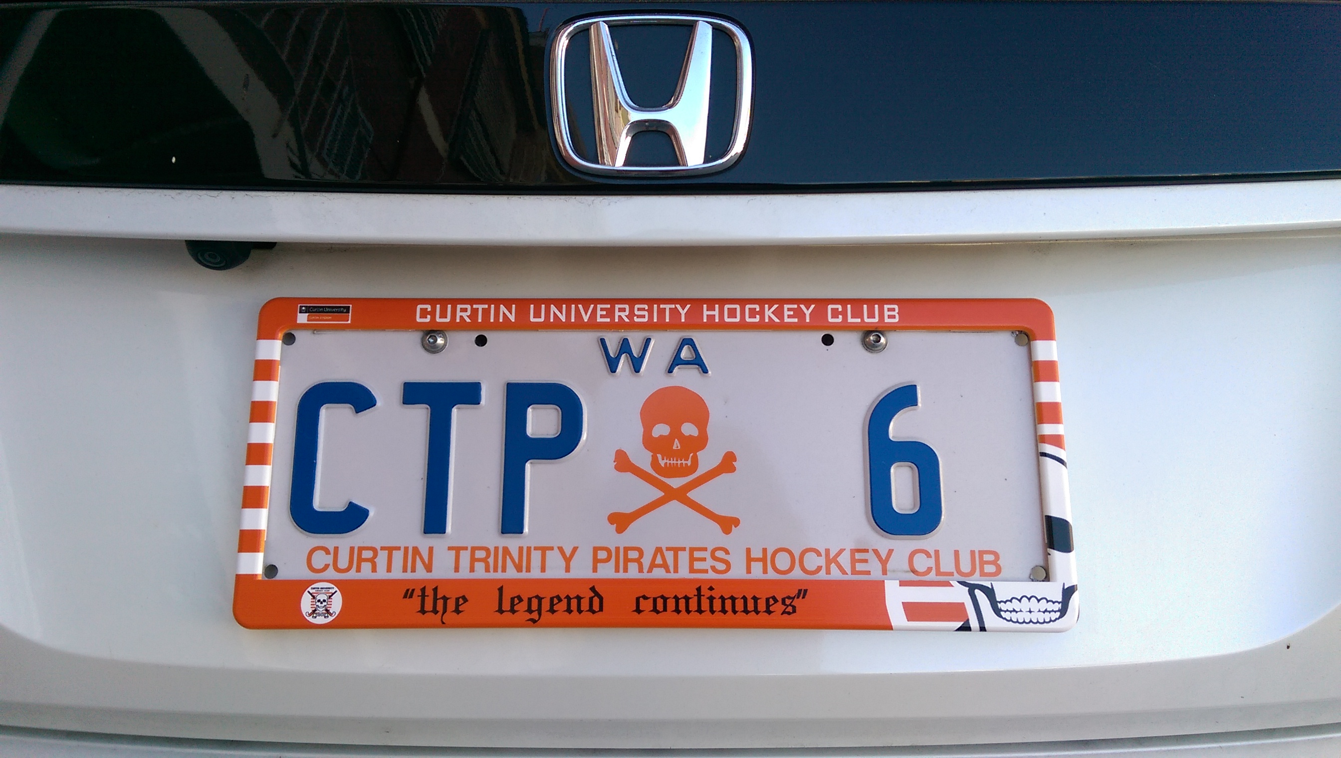 Number Plate Frames | Curtin University Hockey Club